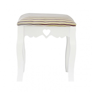 Elegantná taburetka, biela / béžová opasok, WAGNER 1