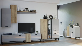 Obývacia set Osvald - dub halifax/šedá