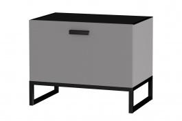 Zásuvkový odkladací stolík Osvald - šedá