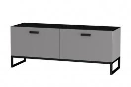 TV stolík Osvald - šedá/čierna