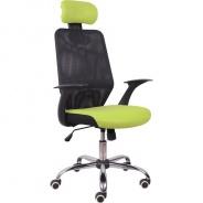 Kancelárska stolička, čierna / zelená, REYES
