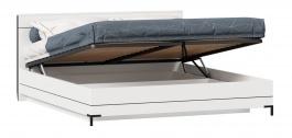 Posteľ s úložným priestorom Caroline 180x200cm - biela/čierna