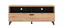 TV stolík Taylor - dub artisan/čierna