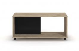 Konferenčný stolík Mabel - dub šedý/čierna