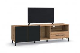 TV stolík Nibiru 160cm - dub artisan/čierna