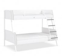 Študentská poschodová posteľ 90x200-120x200 Pure - biela