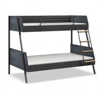 Študentská poschodová posteľ 90x200-120x200 Nebula - čierna/sivá