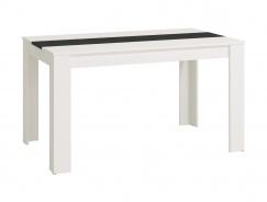 Jedálenský stôl George - biela/čierna