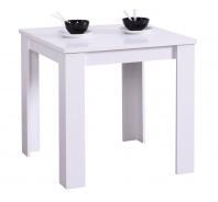 Jedálenský stôl Albert 80x80cm - bílý