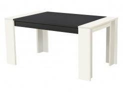 Jedálenský stôl Robert 155x90cm - biely/čierna