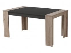 Jedálenský stôl Robert 155x90cm - dub sivý/čierna