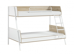 Poschodová posteľ 90x200+120x200cm Dylan - biela/dub svetlý