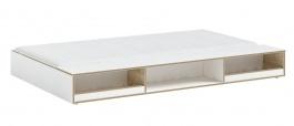 Prístelok s úložným priestorom 90x190cm Dylan - biela/dub svetlý