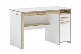 Písací stôl Dylan - biela/dub svetlý