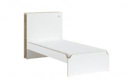Študentská posteľ 100x200cm Dylan - biela/dub svetlý