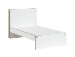 Študentská veľká posteľ 120x200cm Dylan - biela/dub svetlý