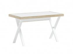 Študentský stôl Dylan - biela/dub svetlý