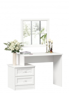Toaletný stolík so zrkadlom Ofélie - biela