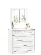 Zásuvková komoda so zrkadlom Ofélie - biela