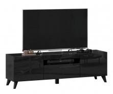 TV stolík s nohami 150cm Drax - čierny lesk