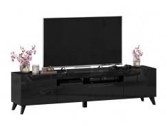 TV stolík s nohami 180cm Drax - čierny lesk