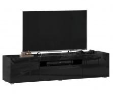 TV stolek 160cm Drax - čierny lesk