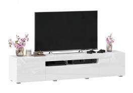 TV stolek 180cm Drax - biely lesk