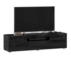 TV stolek 150cm Drax - čierny lesk