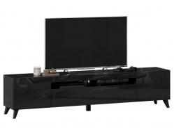 TV stolík s nohami 200cm Drax - čierny lesk