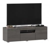 TV stolík 120cm Drax - šedý lesk