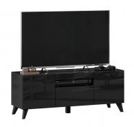 TV stolík s nohami 120cm Drax - čierny lesk