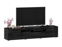 TV stolek 180cm Drax - čierny lesk