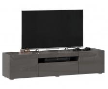 TV stolek 160cm Drax - šedý lesk