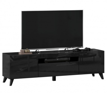 TV stolík s nohami 160cm Drax - čierny lesk