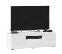 TV stolík 120cm Drax - biely lesk