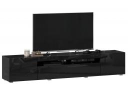 TV stolek 200cm Drax - čierny lesk