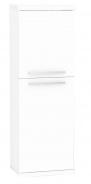 Kúpeľňová skrinka s košom na bielizeň REA REST 4 - biela