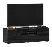 TV stolek 120cm Drax - čierny lesk