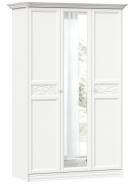 Šatníková skriňa so zrkadlom Ofélie - biela