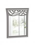 Zrkadlo s dekorom Ofélie - šedá