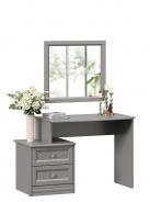 Toaletný stolík so zrkadlom Ofélie - šedá