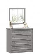 Zásuvková komoda so zrkadlom Ofélie - šedá