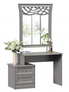 Toaletný stolík s dekorovaným zrkadlom Ofélie - šedá
