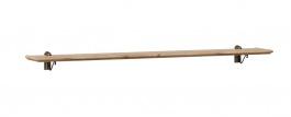 Závesná polica 120cm Annie - šedá/dub Tortuga