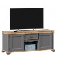 Televízny stolík Annie II - šedá/dub tortuga