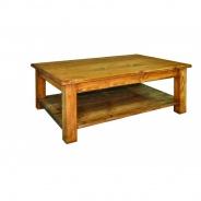 Konferenčný stolík masív MES 14 - K17 biely vosk