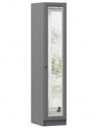 Jednodverová skriňa so zrkadlom Annie - šedá