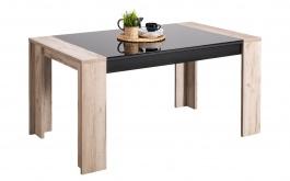 Jedálenský stôl Vivo - dub šedý/čierna