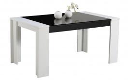 Jedálenský stôl Vivo - biela/čierna