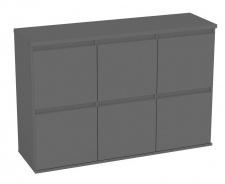 Komoda s 6 kontajnerovými zásuvkami REA Amy 18 - graphite
